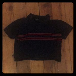 brandy melville crop top with red stripes